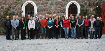 Attendees of the Freshwater Annual Meeting, Hvalso, Denmark, 2015. Photo: CAFF