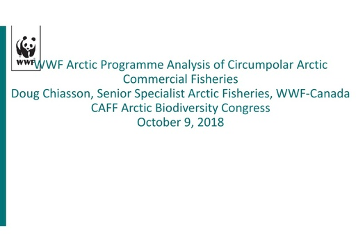 An analysis of Circumpolar Arctic Commercial Fishing: Doug Chiasson