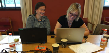 Contributors at a writing workshop. Photo: CAFF