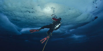 Dive photographer. Photo: Peter Leopold, NPI