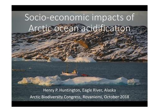 Socio-economic Impacts of Arctic ocean acidification: Henry Huntington