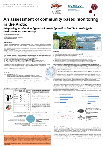 An assessment of community based monitoring in the Arctic