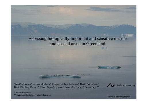 Assessing sensitivity of marine and coastal areas to ocean uses in Greenland: Tom Christensen