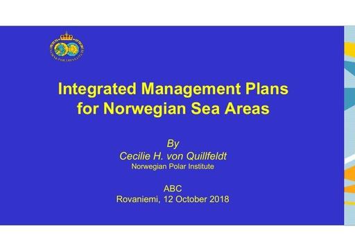 Integrated Management Plans for Norwegian Sea Areas: Cecilie H. von Quillfeldt