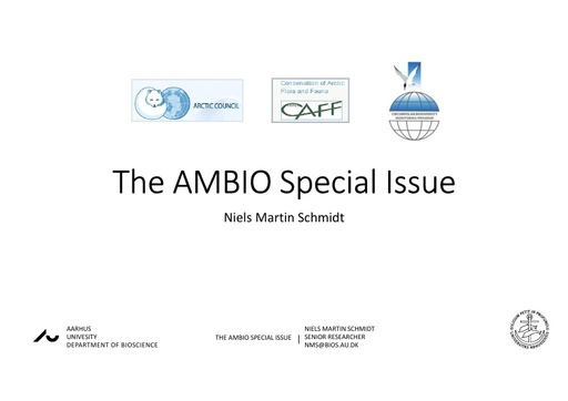 Introduction to the CBMP Terrestrial, StArT and Special Journal Issue (Ambio): Niels Martin Schmidt
