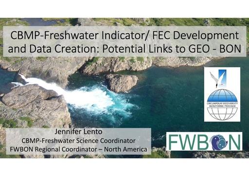 Presentation on SABR indicator/ FEC development and datacreation. Potential links to GEO - BON and other international partners: Jen Lento