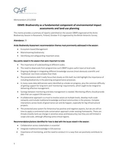 Memo EBM9 SessionReport