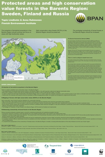 Barents Protected Area Network (BPAN) and Arctic