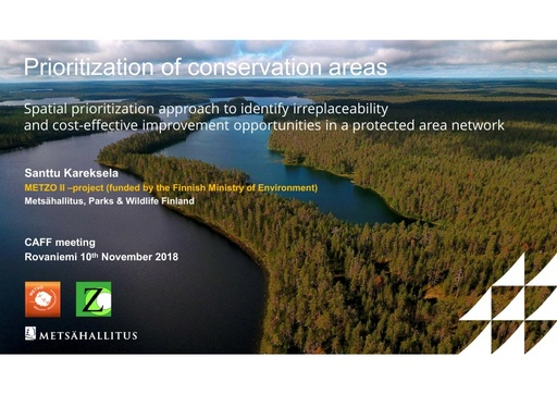 Spatial prioritization approach to identify irreplaceability and cost-effective improvement opportunities in a protected area network: Santtu Kareksela