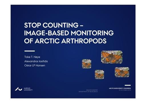 Image-based monitoring of Arctic arthropods: Toke Høye
