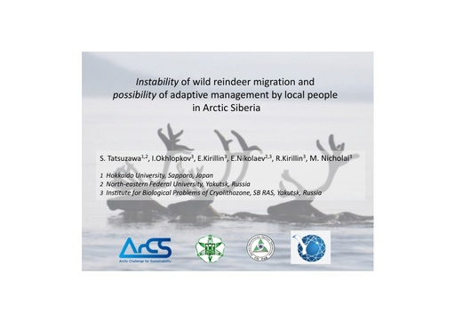 Instability of wild reindeer migration and possibility of adaptive management by local people in Arctic Siberia: Shirow Tatsuzawa