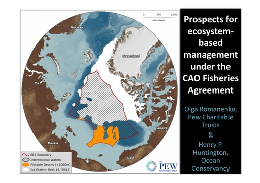 Ecosystem-Based Management in the Central Arctic Ocean: Henry Huntington