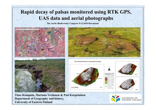 Rapid decay of palsas monitored using RTK GPS, UAS data and aerial photographs: Timo Kumpula