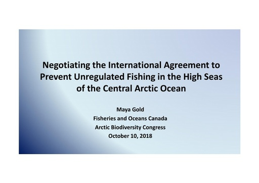 The CAO Fishing Agreement: Negotiations and next steps: Maya Gold