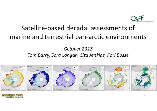 Presentation highlighting Data that are created by the CBMP remote sensing work: Sara Longan