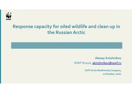 Response capacity for oiled wildlife and clean up in the Russian Arctic: Alexey Knizhnikov