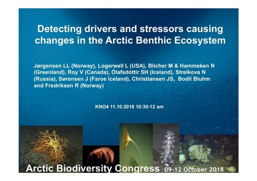 Pan Arctic standardization for identifying biodiversity, drivers and stressors in a changing Arctic benthic ecosystem: Lis Lindal Jørgensen