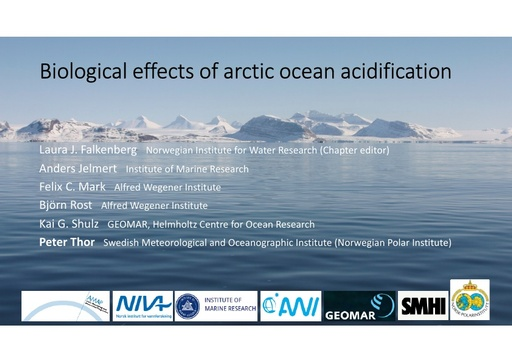 Biological responses to Arctic ocean acidification: Peter Thor