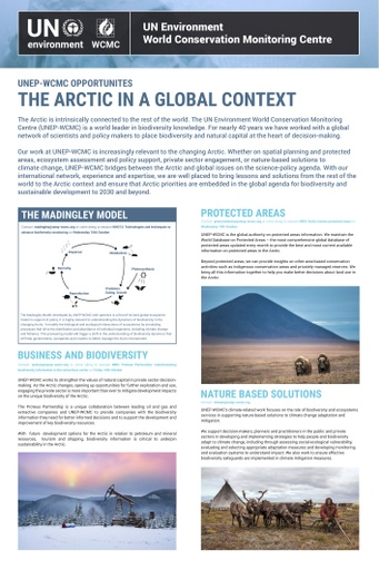 UN Environment World Conservation Monitoring Centre Opportunities: the Arctic in a Global Context