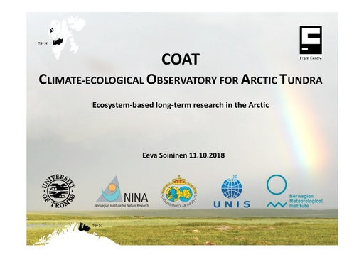 Climate-Ecological Observatory for Arctic Tundra (COAT): Eeva Soininen