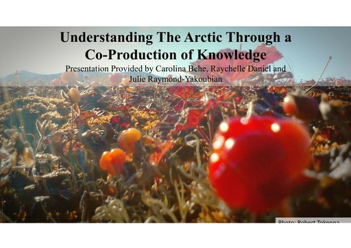 Understanding the Arctic through a co-production of knowledge: Carolina Behe