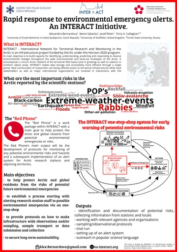 "The ""Red phone"": Rapid response to environmental emergency alerts. An INTERACT Initiative."