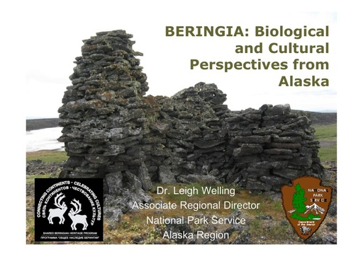 The biocultural landscape of Beringia - An Alaskan perspective: Leigh Welling