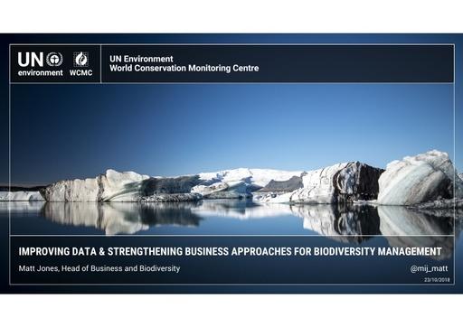 Improving global data and strengthening business approaches for biodiversity management: Matt Jones
