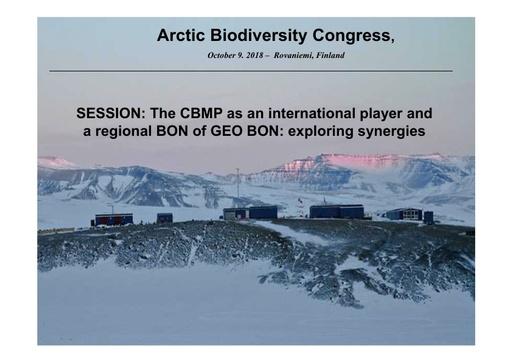 The Circumpolar Biodiversity Monitoring Program – The CBMP Strategic Plan 2018 – 2021: Tom Christensen