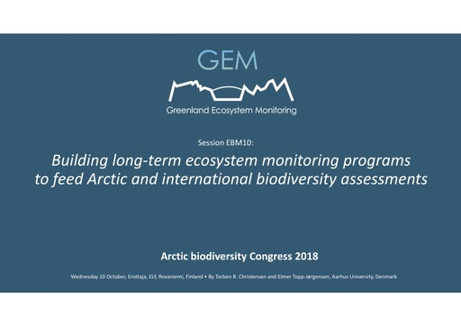 Greenland Ecosystem Monitoring Program: Torben R. Christensen