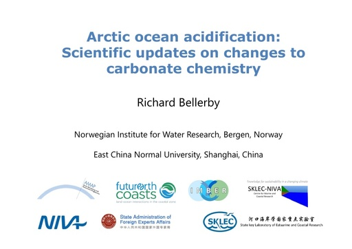 Arctic ocean acidification: Scientific updates on chemical processes: Richard Bellerby
