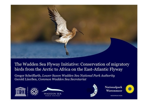 The Wadden Sea Flyway Initiative for connecting and inspiring people: Conservation of migratory birds from the Arctic to Africa on the East-Atlantic Flyway: Gregor Scheiffarth