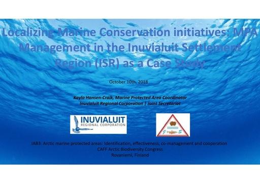 Indigenous management of MPAs in the Inuvialuit Settlement Region: Kayla Hansen-Craik