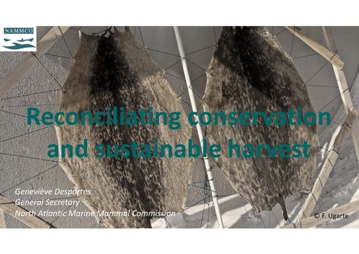 Reconciliating conservation and sustainable harvest: Geneviève Desportes