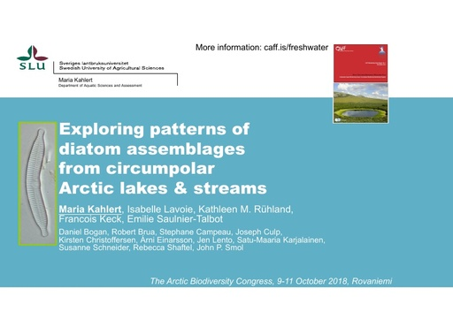 Circumpolar trends of diatoms: Maria Kahlert