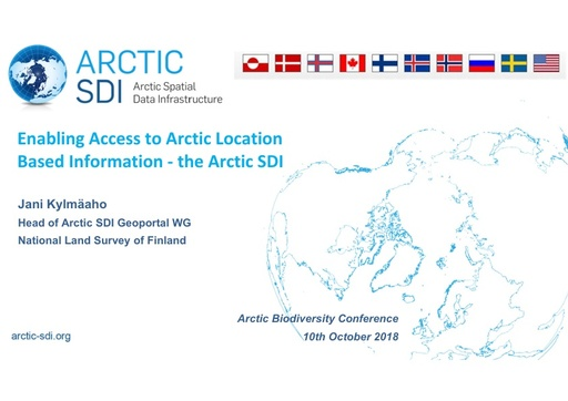 Readily available Arctic data, tools and services for data sharing supporting the Arctic Scientific community and the work of Arctic Council– the Arctic SDI Basemap, services and tools in the Arctic: Jani Kylmääho