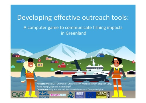 Developing effective outreach tools to communicate fishing impacts in Greenland: Mona Maria Fuhrmann