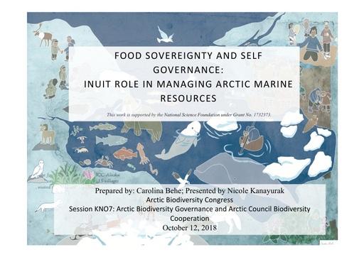 Food sovereignty and self governance: Nicole Kanayurak
